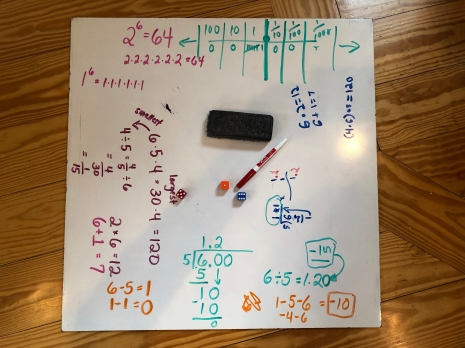 The roll of the dice led to a lot of math talk!